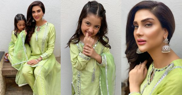 Beautiful Clicks of Actress Fiza Ali with her Cute Daughter