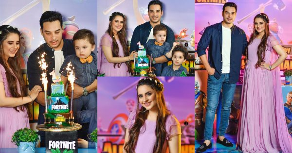 Birthday Celebration Pictures of Fatima Effendi and Kanwar Arsalan Sons Almir and Mahbir