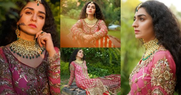Beautiful Bridal Shoot of Hajra Yamin for Annus Abrar