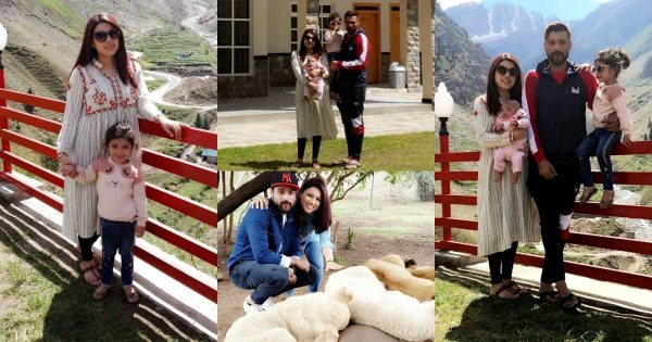 Mohammad Amir Enjoying Vacation in Northern Areas with his Wife and Cute Kids
