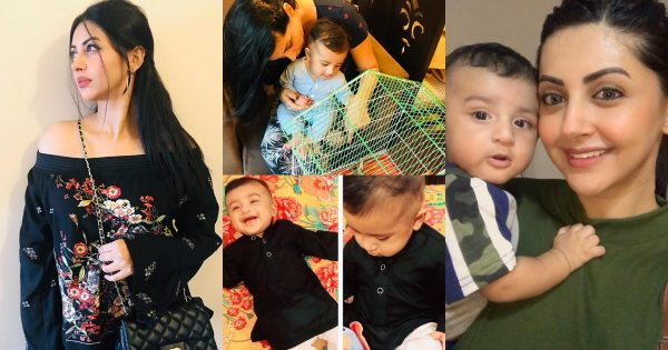 Beautiful Clicks of Actress Moomal Khalid with her Son