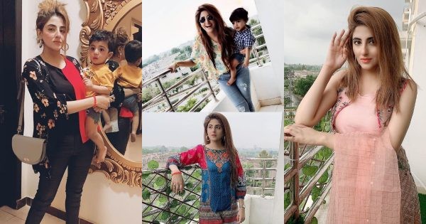 New Pictures of Actress Fatima Sohail with her Son