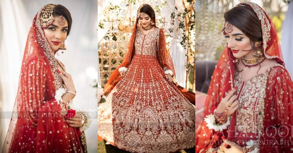 Gorgeous Rabab Hashim Looking Stunning in Red Bridal Outfit