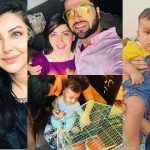 Beautiful Pictures of Moomal Kahlid with her Husband and Son
