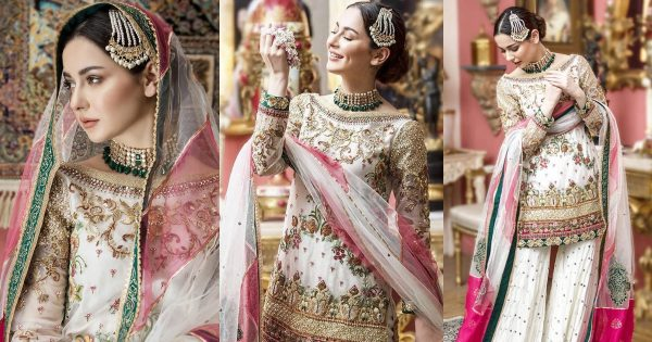 Hania Aamir is Looking Gorgeous in her White Bridal Dress Shoot