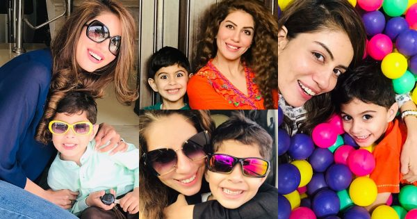 Actress Sadia Faisal Beautiful Pictures with her Cute Son
