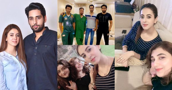 Latest Pictures of Salman Saeed with his Wife Aleena at Javeria Saud House