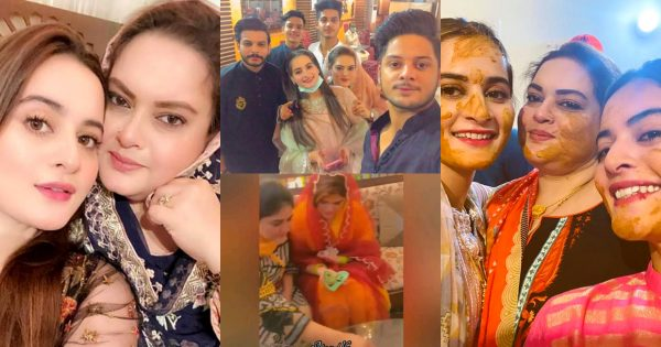 Aiman and Minal Beautiful Clicks from Family Mehndi Event