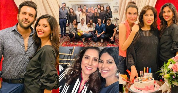 Latest Beautiful Clicks of Sunita Marshal and Hassan Ahmed from a Birthday Party