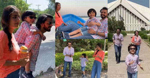 Beautiful Clicks of Bilal Qureshi and Uroosa Qureshi with their Son from Islamabad