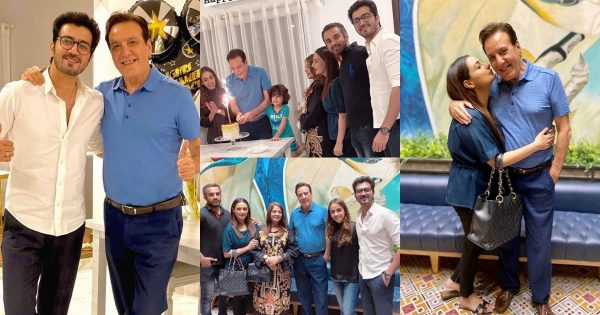 Beautiful Birthday Pictures of Javed Sheikh with his Family