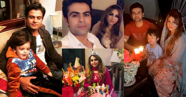 Latest Beautiful Clicks of Cricketer Ahmad Shahzad with his Wife and Son