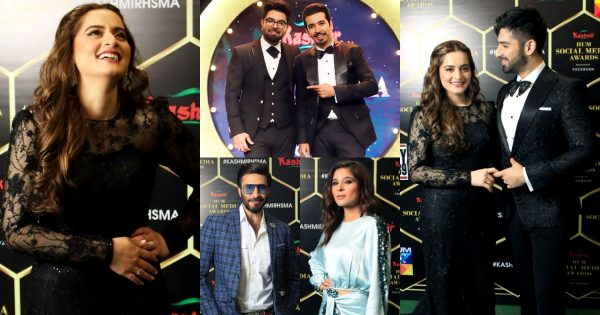 Beautiful Pictures From HUM Social Media Awards 2020
