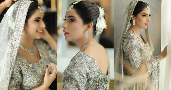 Saboor Ali is Looking Gorgeous in her Latest Bridal Makeup for Shoot