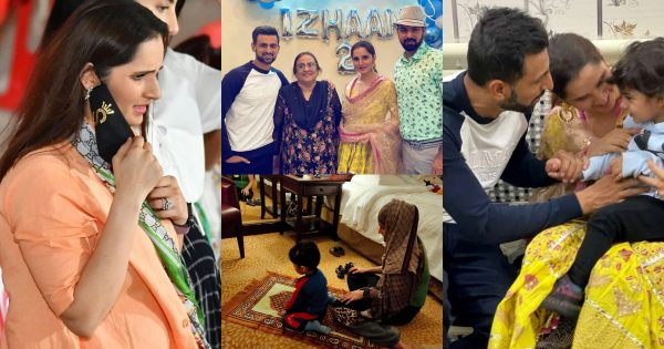Latest Photos of Sania Mirza with her Son in Pakistan
