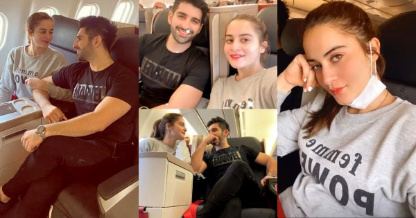 Actors Aiman Khan and Muneeb Butt flying to Turkey for Vacation