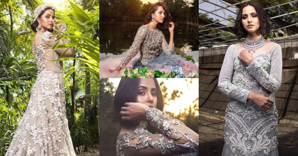 Latest Bridal Collection of Tabassum Mughal Featuring Nimra Khan