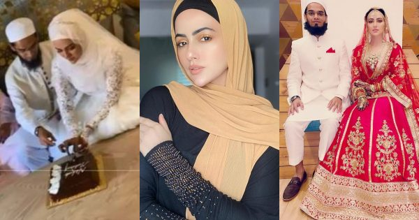 Bollywood Actress Sana Khan Tied Knot with Mufti Anas