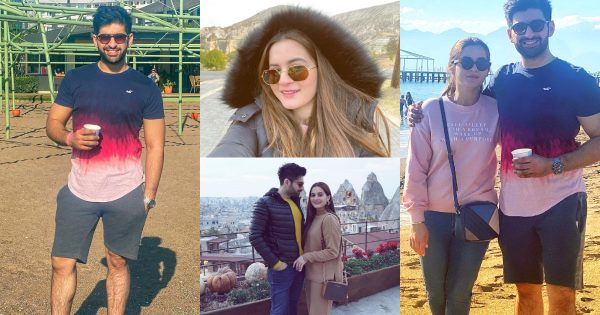 Aiman Khan and Muneeb Beautiful Pictures from Beach Day in Antalya