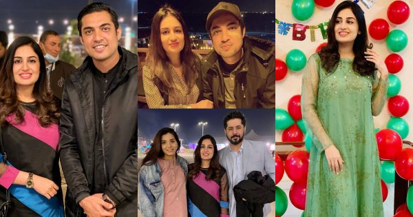 Beautiful Birthday Pictures of Iqrar ul Hassan Wife Farah Yousaf