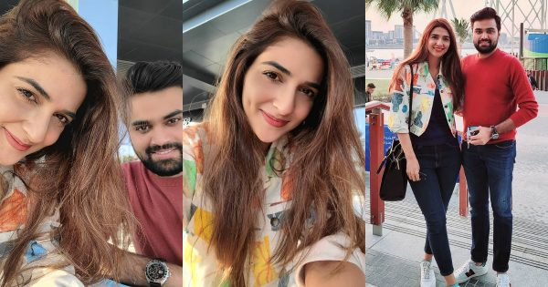 Latest Clicks of Rubab Hashim with her Husband Shoaib