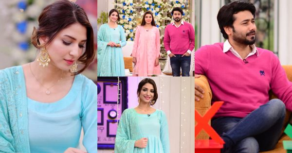 Beautiful Pictures of Actor Ali Abbas and Ramsha Khan from Good Morning Pakistan