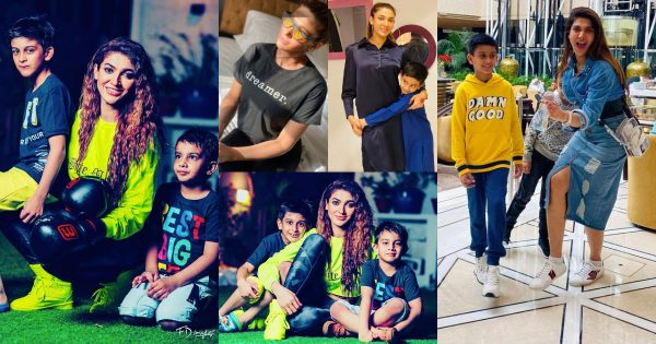Latest Pictures of Actress Sana Fakhar with her Kids