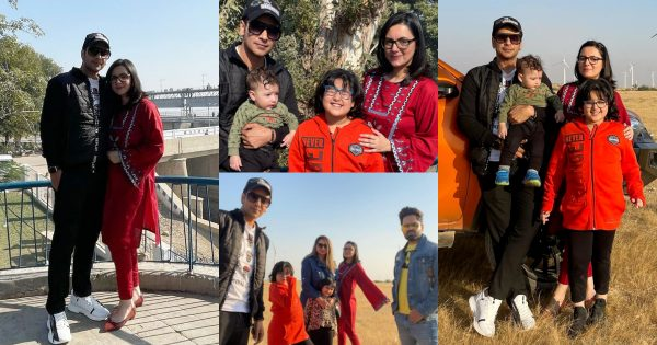 Faysal Qureshi Enjoying a Day Out in Jamshoro with his Family