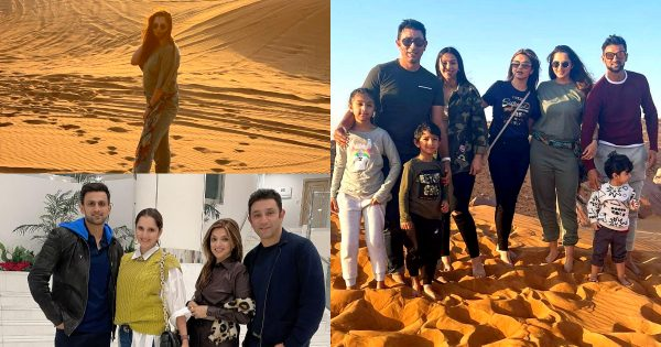 Sania Mirza, Shoaib Malik and Azhar Mehmood Spotted in Desert with Family