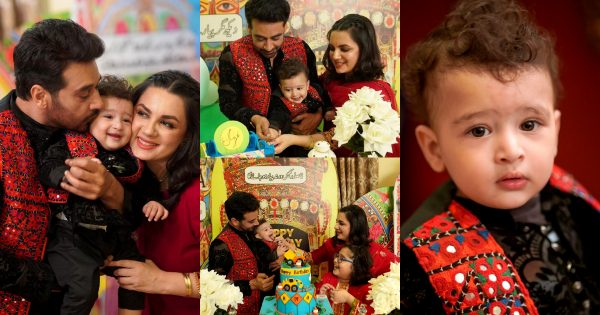 Faysal Qureshi Son Farmaan First Birthday Pictures