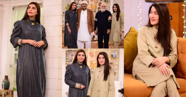 Shaista Lodhi and Nida Yasir With Their Fathers in Good Morning Pakistan