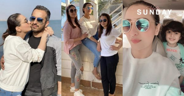 Actress Momal Sheikh New Pictures with her Husband and Kids