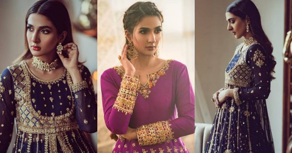 Actress Rabab Hashim Beautiful Bridal Dresses Photo Shoot