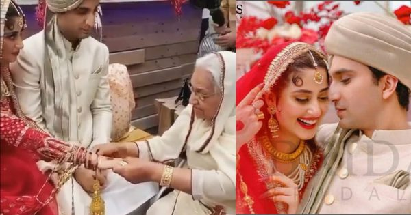 Beautiful Unseen Video Clip From Wedding Of Sajal Aly And Ahad Raza Mir