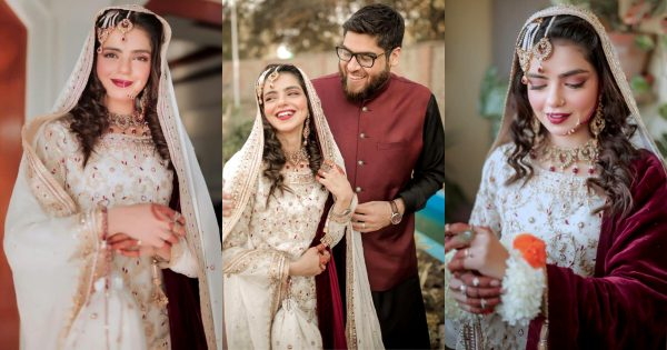 Actress Srha Asghar Looking Gorgeous in Her Wedding Photoshoot