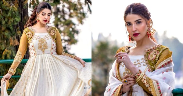 Beautiful Photo Shoot of Gorgeous Hareem Farooq in White Outfit