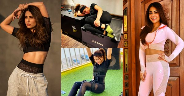 Actress Ushna Shah Beautiful Clicks in Fitness Outfit