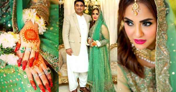 Host and Actress Nadia Khan Wedding Pictures
