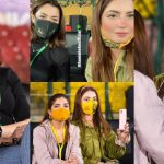 Peshawar Zalmi Girls Hania Amir and Dananeer Clicks from PSL Match
