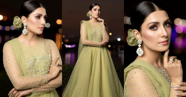 Ayeza Khan Looks Stunning in this Beautiful Green Outfit