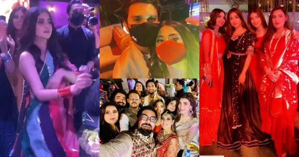 Celebrities Clicks from Sangeet Party of Umair Qazi