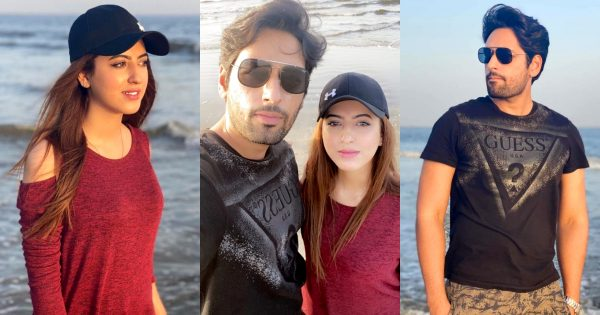 Beautiful Beach Pictures of Salman Saeed with his Wife