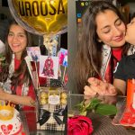 Uroosa Bilal Celebrating her Birthday with her Husband and Son