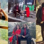 Director Qasim Ali Mureed Honeymoon Pictures with Wife