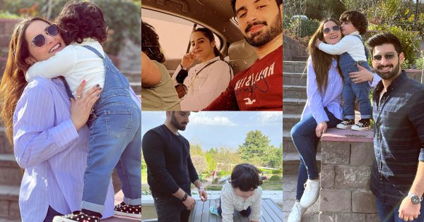 Beautiful Photos of Aiman Khan and Muneeb but Daughter Amal from Murree