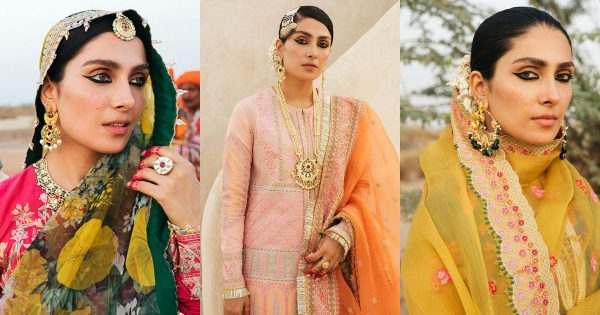 Gorgeous Ayeza Khan Latest Shoot for Luxury Lawn Collection by Hussain Rehar