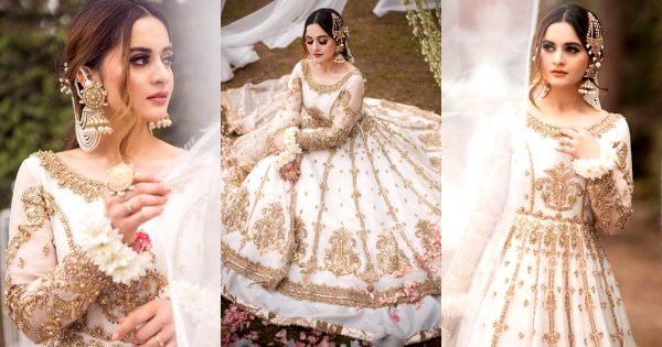 Aiman Khan is Looking Gorgeous in White Bridal Outfit