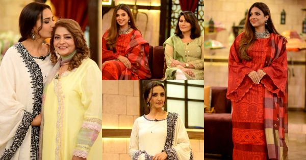 Momal Sheikh And Sonya Hussyn With Their Mothers in Shan-e-Suhoor