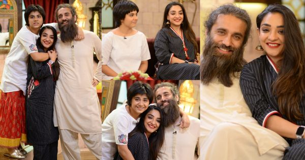 Ali Noor with his Wife Mandana Zaidi and Daughter in Shan-e-Suhoor