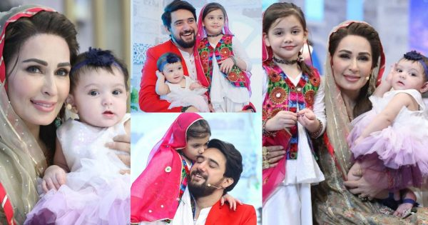 Reema Khan Pictures with Cute Daughters of Farhan Ali Waris
